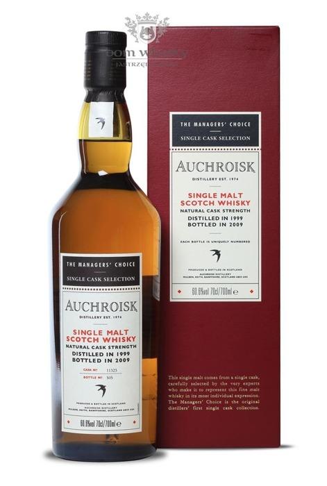 Auchroisk 1999 (B. 2009); The Manager's Choice / 60,6% / 0,7l