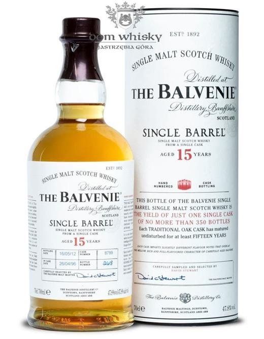 Balvenie Single Barrel, 15-letni (D.1996, B.2012) / 47,8% / 0,7l