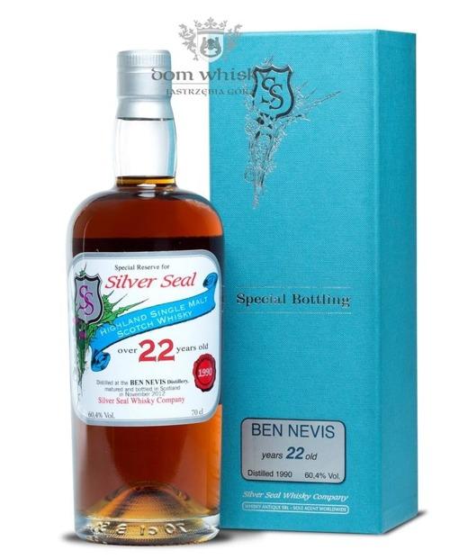 Ben Nevis 22-letni (D.1990, B.2012) Silver Seal / 60,40% / 0,7l