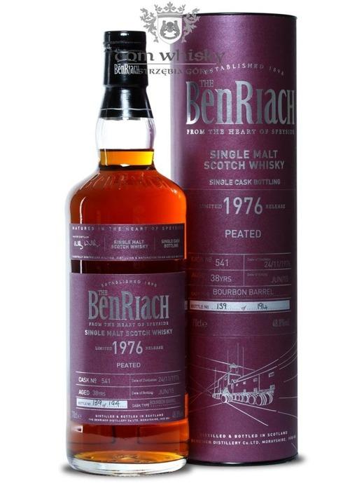 BenRiach 1976 Peated, 38-letni (Bourbon Barrel # 541) /48,8%/0,7