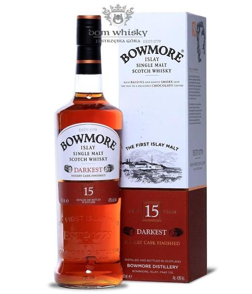 Bowmore Darkest, 15-letni / 43% / 0,7l