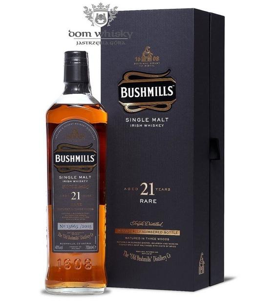 Bushmills 21-letni Three Woods Madeira Bourbon Sherry /40%/0,7l