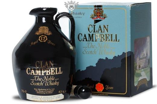 Clan Campbell 12 letni Decanter Porcelana / 43% / 0,75l