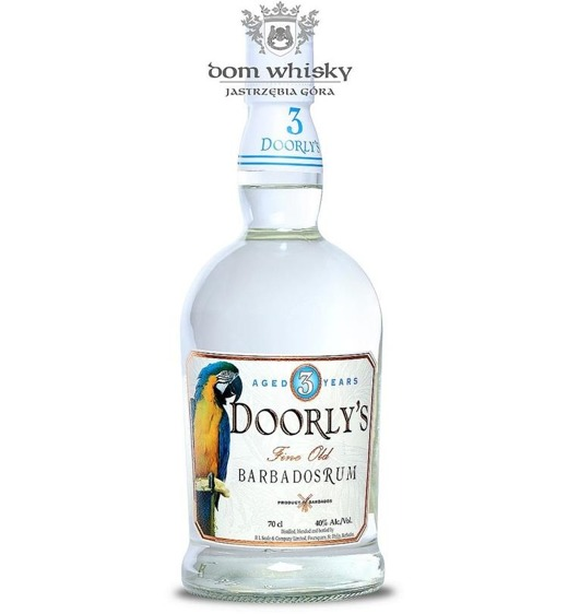 Doorly's 3-letni White Barbados Rum / 40% / 0,7l
