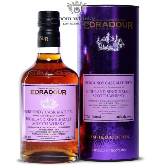 Edradour 2003 (B.2012) Burgundy Cask Matured Batch # 2 /46%/0,7l