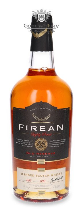Firean Lightly Peated Old Reserve / 43% / 0,7l