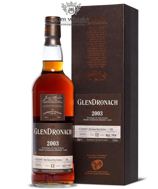 GlenDronach 12-letni (D.2003 B.2016)Single Cask #930 53,4% 0,7l
