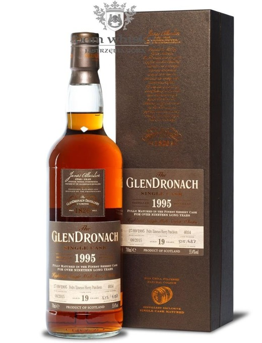 GlenDronach 19-letni (D.1995 B.2015) Single Cask #4034/55,4%/0,7