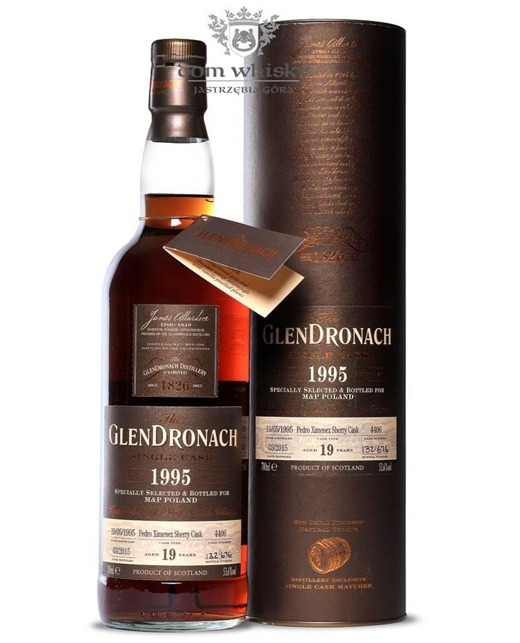 GlenDronach 19-letni (D.1995 B.2015) Single Cask #4406/53,6%0,7l