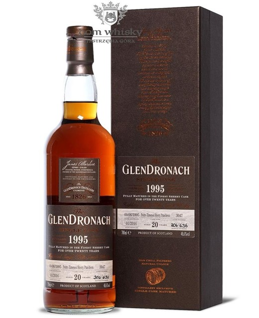 GlenDronach 20-letni (D.1995 B.2016)Single Cask #3047 48,6% 0,7l