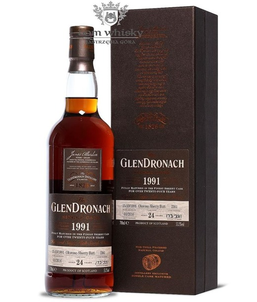 GlenDronach 24-letni (D.1991 B.2016)Single Cask #2361 53,1% 0,7l