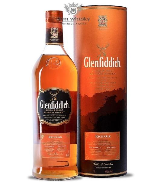 Glenfiddich 14-letni Rich Oak / 40% / 1,0l