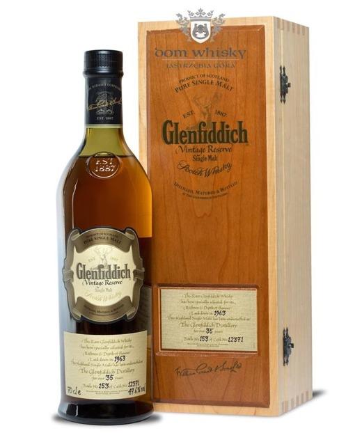 Glenfiddich 35 letni 1963 Vinatge Cask 12371 nr 153 /47,6%/0,7l