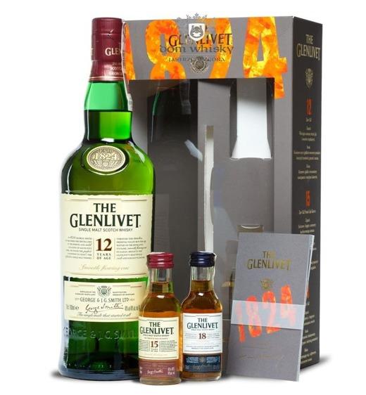 Glenlivet 12-letni  (50 ml mini, 15- i 18-letnie gratis) / 40% /