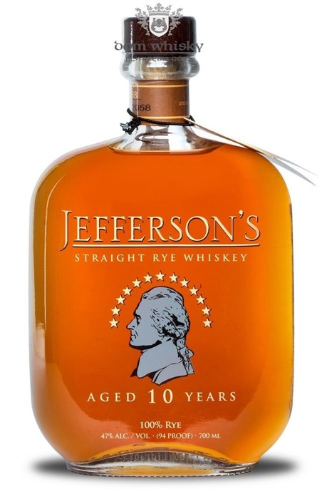 Jefferson's 10 letni Straight Rye Whiskey / 47% / 0,7l