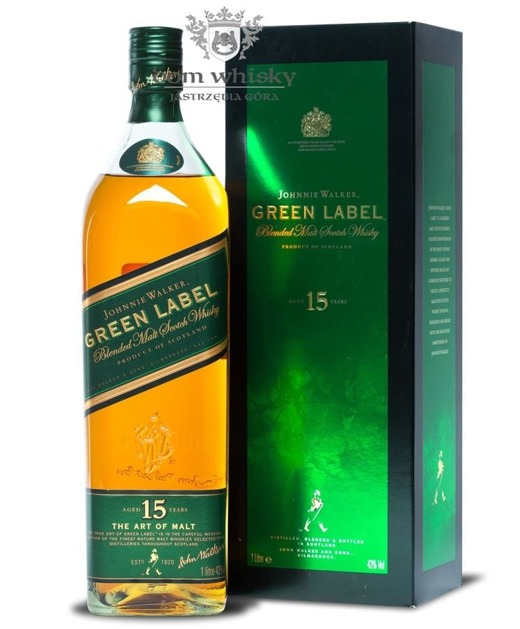 Johnnie Walker 15-letni Blended Malt Green Label / 43% / 1,0l