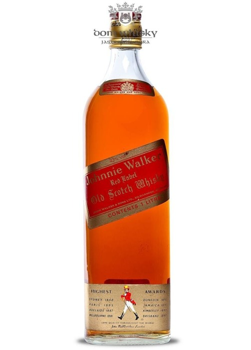 Johnnie Walker Red Label 1970's / 43% / 1,0l