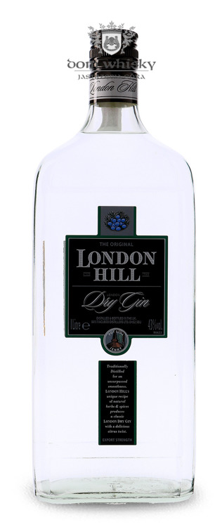 London Hill Dry Gin / 43% / 1,0l