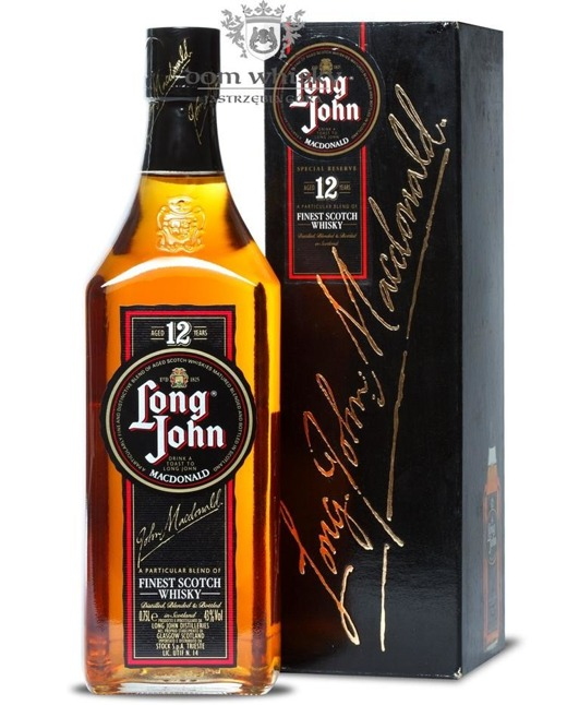Long John 12-letni Macdonald Blended Scotch Whisky / 43% / 0,75l