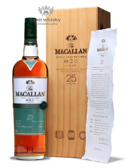 Macallan 25-letni Fine Oak (Triple Cask Matured) /43%/0,7l