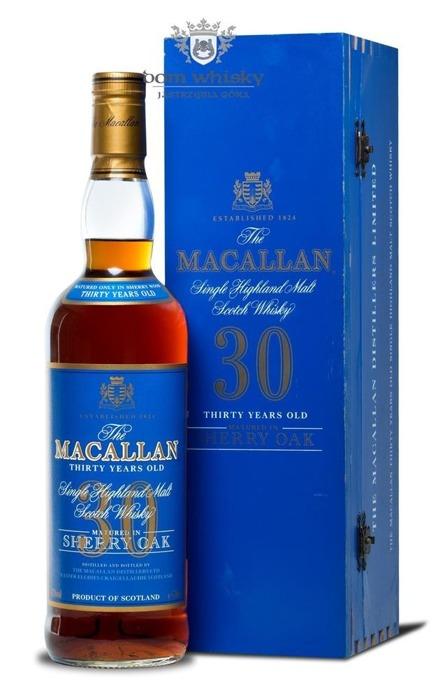 Macallan 30-letni Matured in Sherry Oak (Blue Label) /43%/0,7l