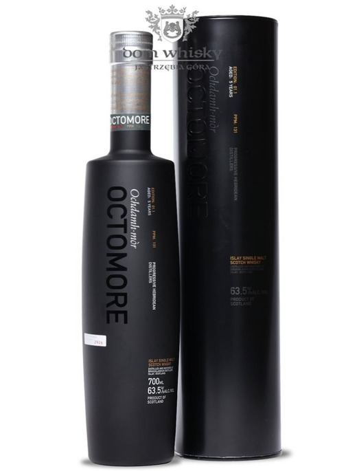 Octomore 5-letni, Edition: 01.1 (131 ppm) / 63,5%/ 0,7l