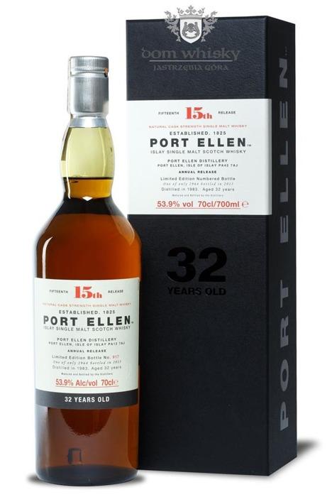 Port Ellen 32-letni (D.1983, B.2015) 15th Release / 53,9% / 0,7l