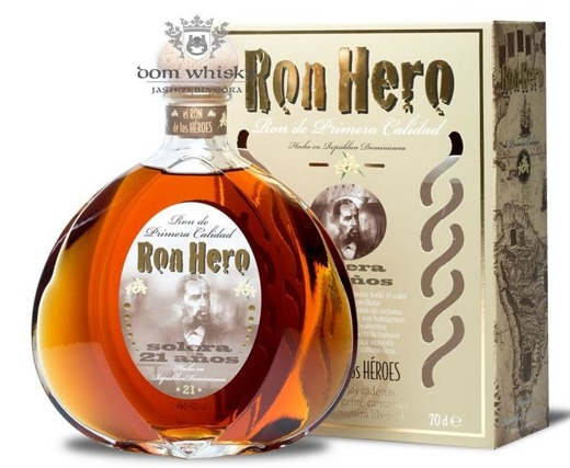 Ron Hero Solera 21-letni / Dominicana / 42% / 0,7l