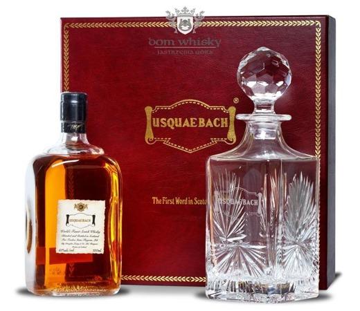 Usquaebach Crystal Blended Malt Whisky / zestaw / 43% / 0,7l