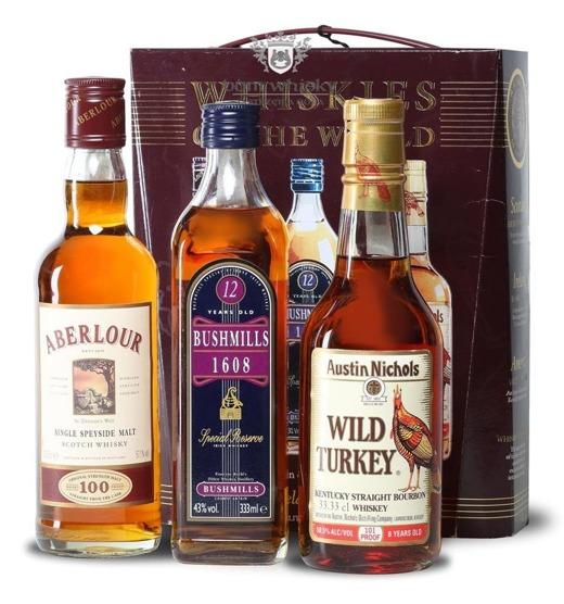 Whiskies of the World /Aberlour,Bushmills,Wild Turkey/ 3 x 0,33l