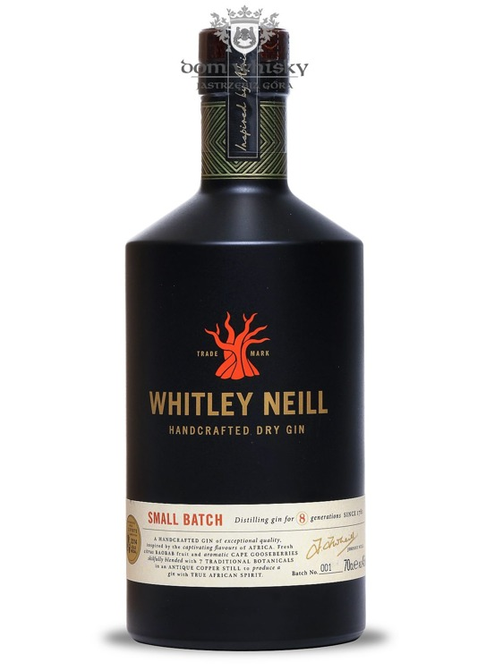 Whitley Neill Handcrafted Dry Gin #001 (UK) / 43% / 0,7l